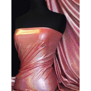 Red Mystique Hologram Foil Nylon Lycra 4 Way Stretch Fabric Q781 RD