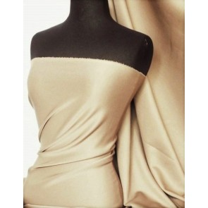 Beige Scuba 4 Way Stretch Poly Lycra Q792 BGE