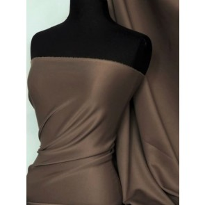 Chocolate Brown Scuba 4 Way Stretch Poly Lycra Q792 CHBR