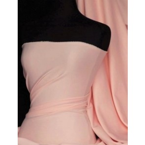 Light Peach Scuba Stretch Poly Lycra Fabric Q792 LTPCH