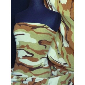 Desert Camouflage Polar Fleece- Anti Pill Washable Soft Q817 DSRT