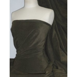 Khaki Green Suedette / Suede Look Fabric Q835 KHGR