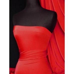 Red 4 way stretch shiny lycra fabric Q54 RD