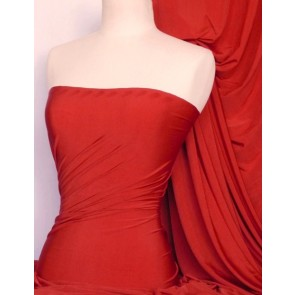 Red Diabolo Shiny Lycra Stretch Fabric Q262 RD