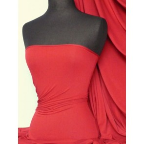 Red heavy viscose cotton stretch lycra fabric Q896 RD