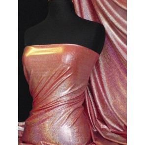 Red hologram micro foil lycra fabric Q781 RD