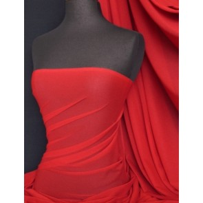 Red stretch helenka mesh sheer material Q443 RD