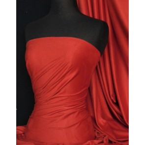Red Suedette Stretch Fabric Material Q503 RD
