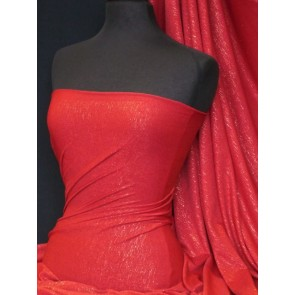 Red viscose lycra with subtle shimmer Q874 RD