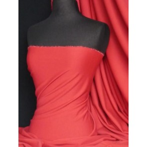 Red ponte double knit 4 way stretch jersey Q37 RD