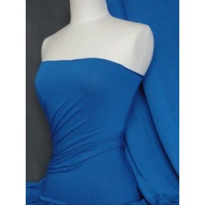Royal blue 100% viscose stretch fabric