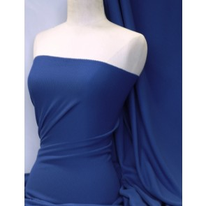 Royal Blue Bubble 4 Way Stretch Lycra Fabric Q894 RBL