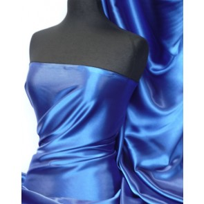 Royal Blue Medium Weight Satin Fabric Q243 RBL