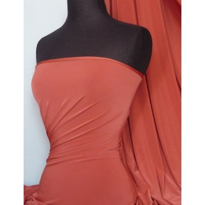Rust Red silk touch 4 way stretch lycra fabric  Q53 RSTRD