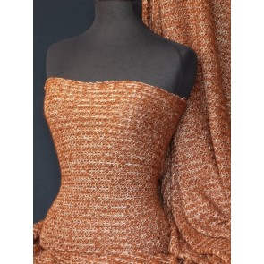 Rust sweater knit acrylic soft fabric Q971 RST