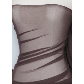 Seconds Brown Power Mesh 4 Way Stretch Fabric SC1 BR