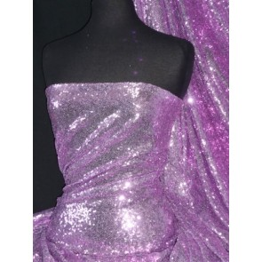 Lilac Showtime All Over Stitched 3mm Sequins Fabric SEQ53 LLC
