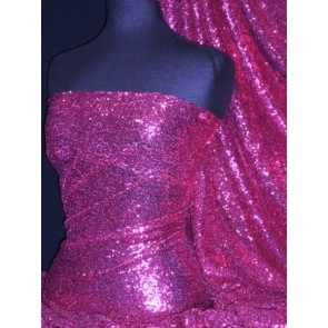 Magenta Showtime All Over Stitched 3mm Sequins Fabric SEQ53 MGT
