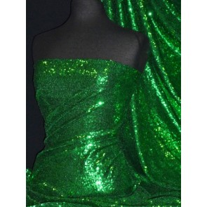 Mask Green Showtime All Over Stitched 3mm Sequins Fabric SEQ53 MSK