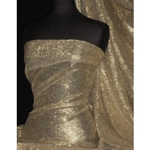 Nude Showtime All Over Stitched 3mm Sequins Fabric SEQ53 ND