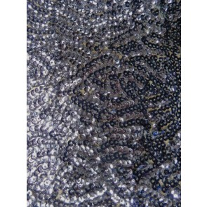 Pigeon Grey Showtime All Over Stitched 3mm Sequins Fabric SEQ53 PGR
