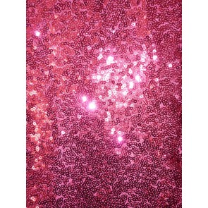 Cerise Pink Showtime All Over Stitched 3mm Sequins Fabric SEQ53 CRS