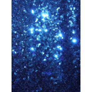 Royal Blue Showtime All Over Stitched 3mm Sequins Fabric SEQ53 RBL