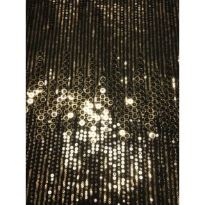 Golden Glam Showtime Fabric All Over Stitched Sequins Mesh SEQ62 BKGD