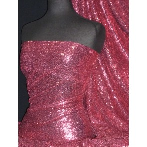 Pink Mist Showtime All Over Stitched 3mm Sequins Fabric SEQ53 PMST