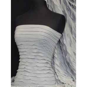 Silver grey catwalk look stretch frill Q848 SLVGR