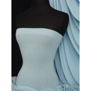 Sky blue viscose cotton stretch jersey lycra fabric