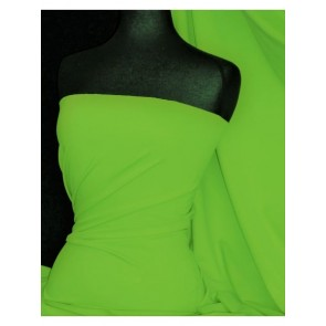Neon Green Super Stretch Matte Nylon Lycra Shape Wear Fabric SQ137 NGRN