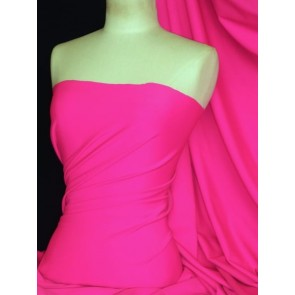 Neon Pink Super Stretch Matte Nylon Lycra Shape Wear Fabric SQ137 NPN