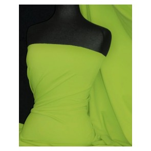 Neon Yellow Super Stretch Matte Nylon Lycra Shape Wear Fabric SQ137 NYL