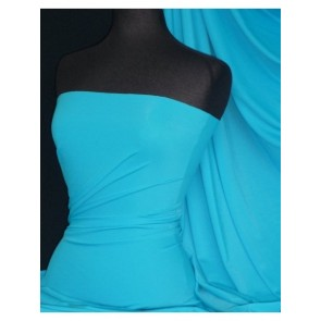 Turquoise Super Stretch Matte Nylon Lycra Shape Wear Fabric SQ138 TQS
