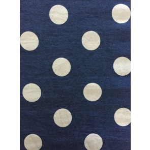 Denim Polka Dots Cotton Fabric Material SQ177 DNM