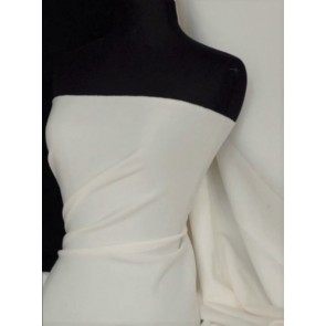 Ivory SC Crepe Stretch Fabric SQ181 IV