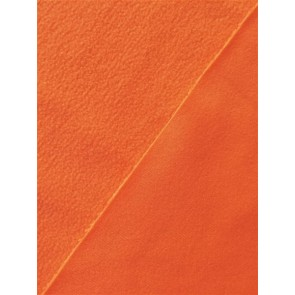 Clearance (90 cms) Flo Orange Micro Fleece Jersey Backed Stretchy Sports Fabric SQ219 FLOR