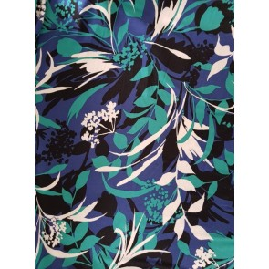 Botanical Twilight Soft Touch 4 Way Stretch Lycra SQ248 BLGRN