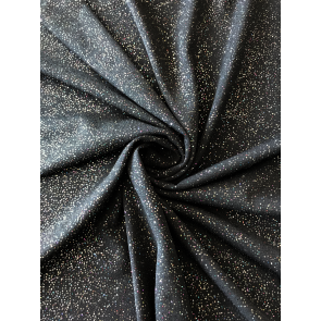 Black/Multi Soft Touch Glitter Stretch Fabric SQ260 BKMLT