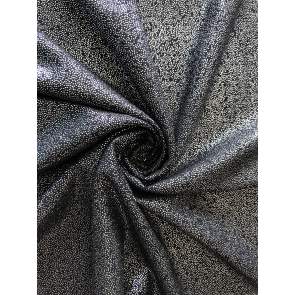 Black/Silver Soft Touch Fog Foil Stretch Fabric SQ260 BKSLV