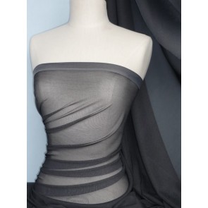 Two Tone Grey Stretch Helenka Mesh Sheer Material SQ38 GR