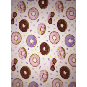 Doughnuts & Sprinkles Polar Fleece Anti Pill Washable Soft Fabric SQ411 IVMLT