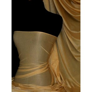 Dark Gold Subtle Gold Shimmer 4 Way Stretch Light Weight Fabric SQ55 DKGD
