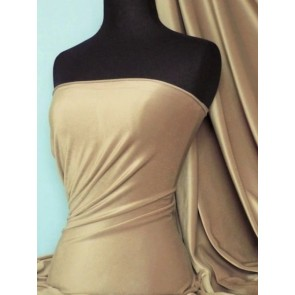 Cappuccino Steam Velvet Velour Stretch Fabric SV157 CPO