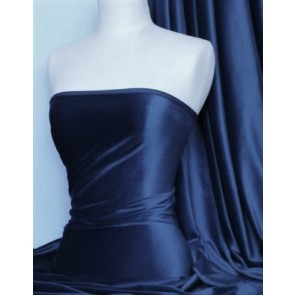 Navy Steam Velvet Stretch Fabric SV157 NY