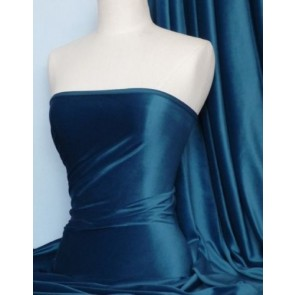 Teal Steam Velvet Stretch Fabric SV157 TL