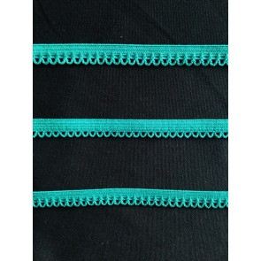 3 METRES Teal Blue Lingerie Elastic Trimming SY146 TLBL