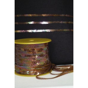 2 Metres Copper String Sequin Trim SY66 COP