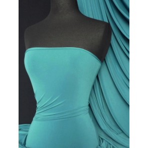 Teal 4 way stretch soft touch fabric Q36 TL